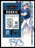 2020 Contenders Rookie Ticket Auto #118 Nick Solak - Texas Rangers