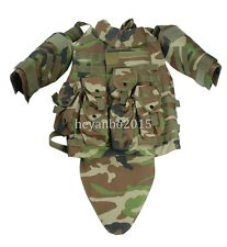 US MILITARY TACTICAL AIRSOFT PAINTBALL OTV COMBAT VEST - COLORSWOODLAND CAMO