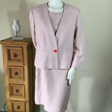 Pendelton Womens Size 14 Wool Blend Made In USA Two Pieces Dress Suit In Pink