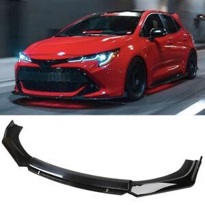 For 01-21 Toyota Corolla Hatchback Front Bumper Lip Splitter Spoiler Matte Black