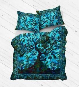 Indian Mandala Queen Dona Duvet Cover Cotton Handmade Bedspreads Throw Bedding
