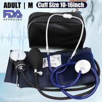 Manual Blood Pressure Monitor BP Cuff Aneroid Sphygmomanometer Stethoscope Kit