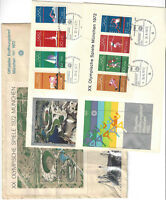 Vintage 1972 Olympics Munich Germany Collectible Sports Stamps & Envelopes