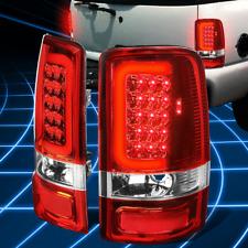 Chrome Red 3D Bar LED Strip Brake Tail Light for 2000-2006 Yukon Denali/Tahoe