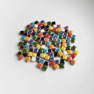 Super Tiny Square Ceramic Mosaic Tiles For Crafts  Art Pieces Hobbies 300 Pieces