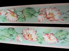 "Vintage Trimz 1515 Lotus Blossoms 2"" Wallpaper Border 1930's Mint Vibrant !"