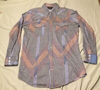 Vintage Sears Western Wear Knit Long Sleeve Shirt Pearl Buttons Great Colors XL