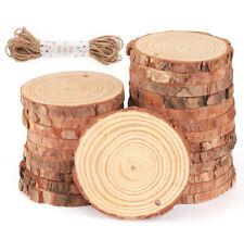 30 Stück Holzscheiben Baumscheiben Astscheiben 8-9 cm rund Hochzeit Bastel Deko
