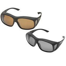 Snowbee Prestigio sobre-Specs Sunglasses Matt Negro/humo verde - 18007-1