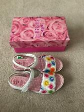 Lelli Kelly Mille Soli Girls Youth Embellished Sandals-White - Size 4.5 - New