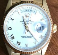 Rolex Day Date President 18038 18k gold, white dial