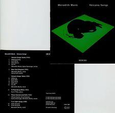 MEREDITH MONK  volcano songs  /  ECM NEW SERIES