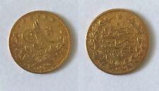 More details for ottoman coins, abdul mejid, turkey, gold 50-kurush, qustantiniya, 1255h, year 20