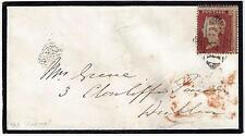 Uk Gb Ireland 1850s Queen 1p Perf 16 Die I Sg 22 Tied To Mourning Cover To Dubli
