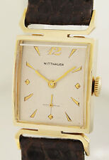 Wittnauer New York-Art Deco Design Orologio da polso in 14ct ORO - 1940er anni