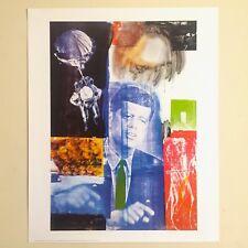 """ROBERT RAUSCHENBERG RARE ORIGINAL LITHOGRAPH PRINT POSTER """" RETROACTIVE 1 """" 1964"""