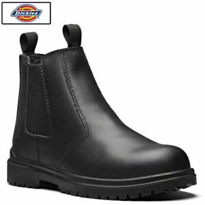 Dickies Dealer Safety Boots Black - Steel Toe Cap Chelsea Safety Boots