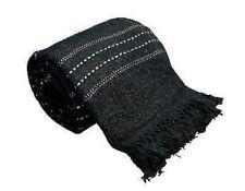X LARGE 100% coton noir Cousu Rayures Divan / Dessus Lit