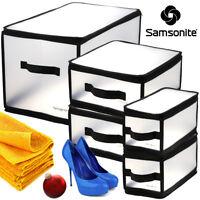5pc Samsonite Home Storage Bins Set Plastic Boxes Container Small Medium X-Large