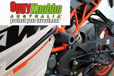 KTM RC390 2014-2016 OGGY KNOBBS NO CUT KIT (Balck Knobbs) Frame Sliders