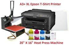 Epson Sublimation A3+ Printer Heat Press Bundle,CISS,16x20 Heat Press,Papers+Ink