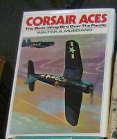 CORSAIR ACES THE BENT-WING  BIRD OVER THE PACIFIC BY MUSCIANO 1979 1ST ED DJ