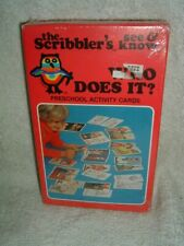 Vtg 1982 The Scribbler's See & Know Preschool Activity Cards New Still Sealed