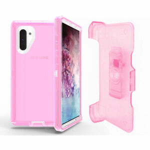 For Samsung Galaxy Note 10/10+Plus Shockproof Rugged Case Cover with Belt Clip