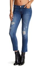 Hudson WCR421DGC Jeans Muse Cropped Raw Hem Skinny Blue Jeans Husl 29 $215