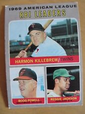 TOPPS AMERICAN LEAGUE 1969 RBI LEADERS NICE  WITH FREE SHIPPING