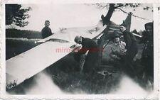 4 x Foto, Segelflieger in Langendamm 1940, Baumlandung und Bruch (N)19223