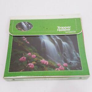 Vintage 80s Mead Trapper Keeper 3 Ring Binder Oregon Waterfall Green RARE Folder