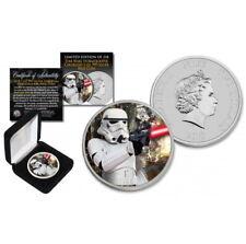 1 oz Star Wars Stormtrooper Endor Battle Backdrop 999 Silbermünze Farbe