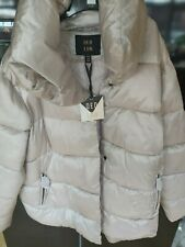 QED London Silver Puffer Coat- Size 16