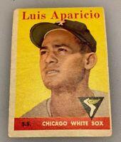 1958 Topps # 85 Luis Aparicio Baseball Card Chicago White Sox HOF