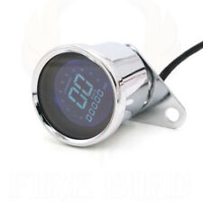 Universal Retro LED LCD Tachometer Speedometer Fuel Gauge Assembly Motorcycle