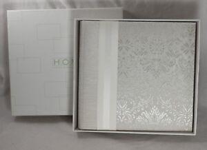 Photo Album 4x6 5x7 White Embossed Fabric Cover Hom Home Essence