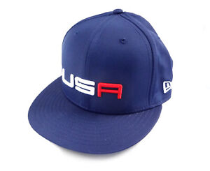 """NEW 2018 New Era 59Fifty USA Ryder Cup Saturday Round Fitted Flatbill 7 1/4"""" Hat"""