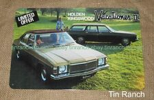 HOLDEN KINGSWOOD TIN SIGN vacationer Vintage ad sedan wagon Australian car retro