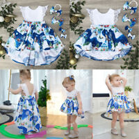 Christmas Baby Girl Toddler Kids Lace Romper Dress Party Dresses Costume