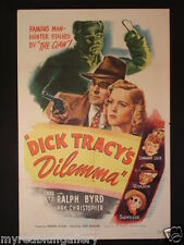 Dick Tracy's Dilemma 1947 RKO Ralph Byrd one sheet