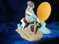 NORMAN ROCKWELL PUPPY LOVE BOY & GIRL LOOKING AT THE MOON FIGURINE RARE RETIRED