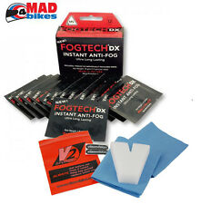FOGTECH DX New Longer Lasting Anti Fog Solution Motorcycle Visors & Goggles x 12