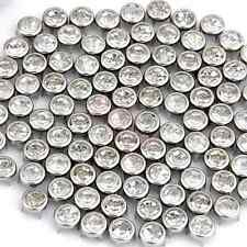 """100 Silver 0.3"""" Round Crystal Stud Spot Punk Nailheads Spikes for Shoes Bracelet"""