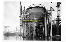 rp6120 - Building Cunard Liner - Aquitania - photo 6x4