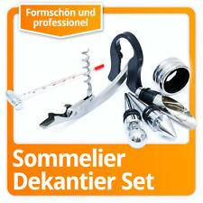 Weinset Sommelier Kiste Korkenzieher Wein Geschenk-Set Tropfring & Thermometer