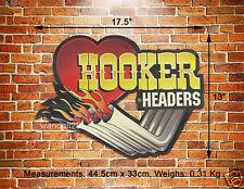 HOOKER Headers Custom Exhaust Pipes Embossed Metal Sign Decor Auto Garage Advert