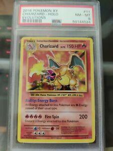 2016 Charizard Holo XY Evolutions Mint PSA 8 Pokemon Card. Green Flame Error