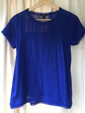 H&M Hip Length Crew Neck Basic T-Shirts for Women
