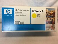 HP Q2672A 309A Yellow Toner Cartridge Laserjet 3500 3550 3700 (2247)